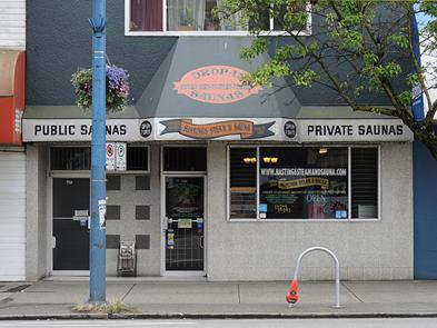 Vancouver belváros - szauna East Hastings