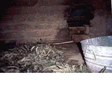 Azték szauna belső terének kialakítása